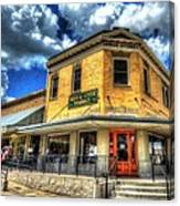 Old Town Bryan Drug Store Canvas Print