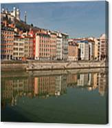 Old Town Of Lyon Canvas Print