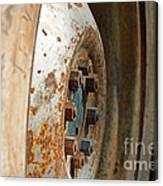 Old Tractor Wheel Canvas Print