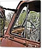 Old Truck Mirror Canvas Print