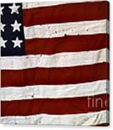 Old Usa Flag Canvas Print
