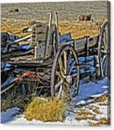 Old Wagon At Bodie Ghost Town Canvas Print