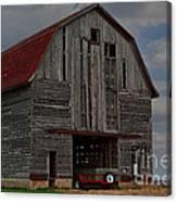 Old Wagon Older Barn Canvas Print