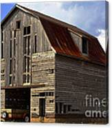 Old Wagon Older Barn Different View Canvas Print