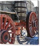 Old Wagon Train Canvas Print
