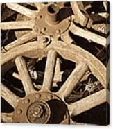 Old Wagon Wheels Canvas Print