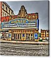 Old Warner Theater Morgantown Wv Canvas Print