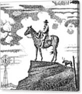 Old-west-art-cowboy Canvas Print