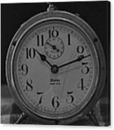Old Westclock In Black And White Canvas Print