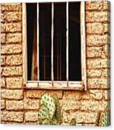 Old Western Jailhouse Window Canvas Print