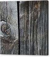 Old Wood On A Barn Iron Hill, Quebec Canvas Print