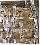 Old Wood Shingles On Building, Mendocino, California, Ca Canvas Print