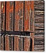 Old Wooden Wall Canvas Print