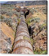 Old Wooden Water Pipeline - Rural Idaho Canvas Print