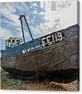 Old Wrecked Fishing Boat Canvas Print