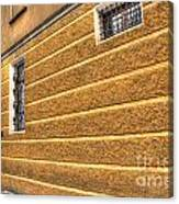 Old Yellow Building Canvas Print