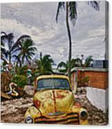 Old Yellow Truck Florida Canvas Print