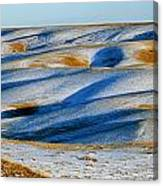 Oldman River Valley In Winter Canvas Print