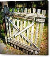Ole Garden Gate I Canvas Print
