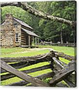 Oliver Cabin In Cade's Cove Canvas Print