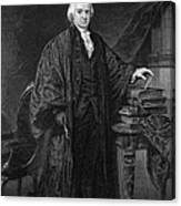 Olvier Ellsworth (1745-1807). Chief Justice Of The United States Supreme Court, 1796-1799. Steel Engraving, 1863 Canvas Print