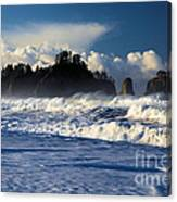 Olympic Ocean Swirls Canvas Print