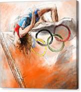 Olympics High Jump Gold Medal Ivan Ukhov Canvas Print