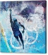 Olympics Swimming 01 Canvas Print