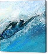Olympics Swimming 03 Canvas Print
