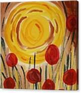 On A Sunny Island Canvas Print