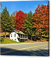 On A West Virginia Road Painted Canvas Print