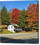 On A West Virginia Road Canvas Print