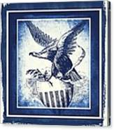On Eagles Wings Blue Canvas Print