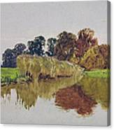 On The Arun Stoke Sussex  Canvas Print