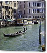 On The Canal In Venice Canvas Print