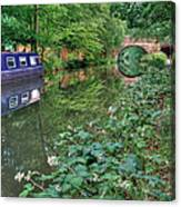 On The Canal Canvas Print