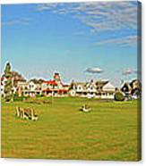 On The Green At Marthas Vineyard Canvas Print