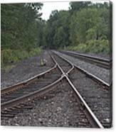 On The Rail Canvas Print