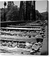 On The Rails Canvas Print
