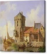 On The Rhine Canvas Print