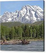On The Snake River Canvas Print