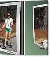 On The Trail - Gently Cross Your Eyes And Focus On The Middle Image That Appears Canvas Print