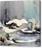 On Thin Ice Canvas Print