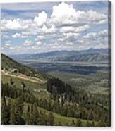 On Top Of Rendezvous Mountain Canvas Print