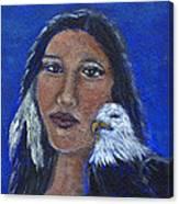 Onawa Native American Woman Of Wisdom Canvas Print