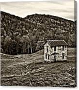 Once Upon A Mountainside Sepia Canvas Print