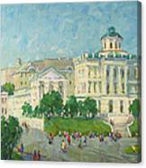 One Day In Moscow Canvas Print