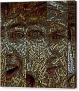 One Direction Faces Mosaic Canvas Print