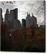 One Light On In Central Park Canvas Print