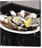 One Of The Best Luxurious Dishes Of Oysters Ive Ever Had Canvas Print